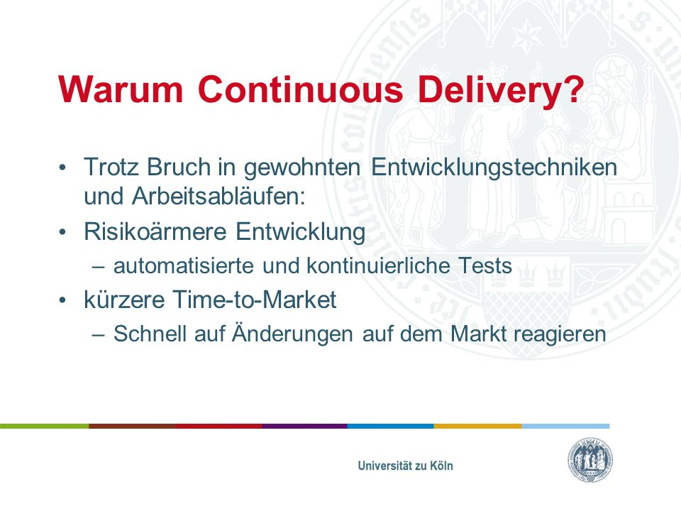 Warum Continuous Delivery