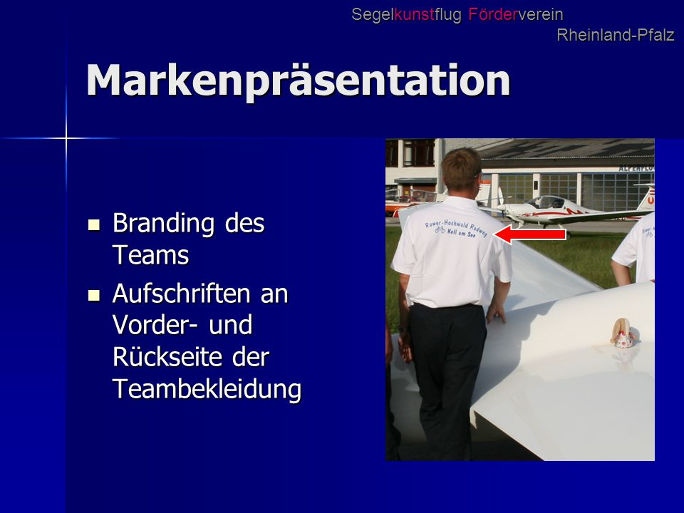 Markenpräsentation Branding des Teams