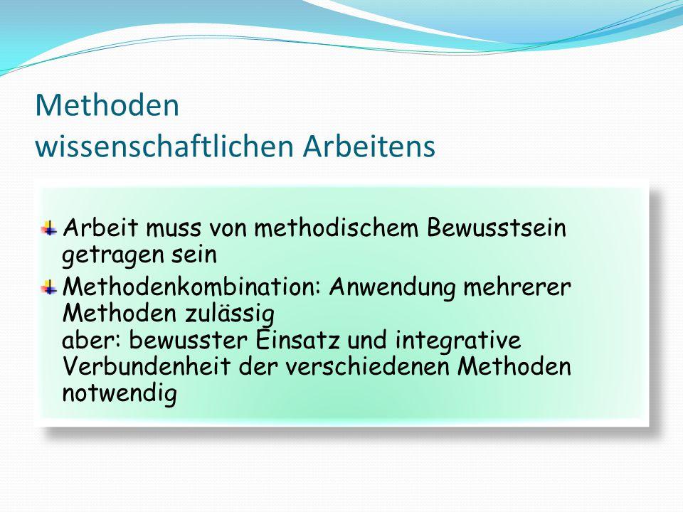 Methoden wissenschaftlichen Arbeitens