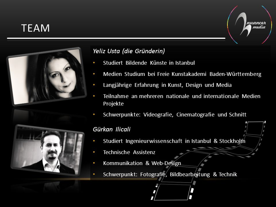 TEAM Yeliz Usta (die Gründerin) Gürkan Ilicali