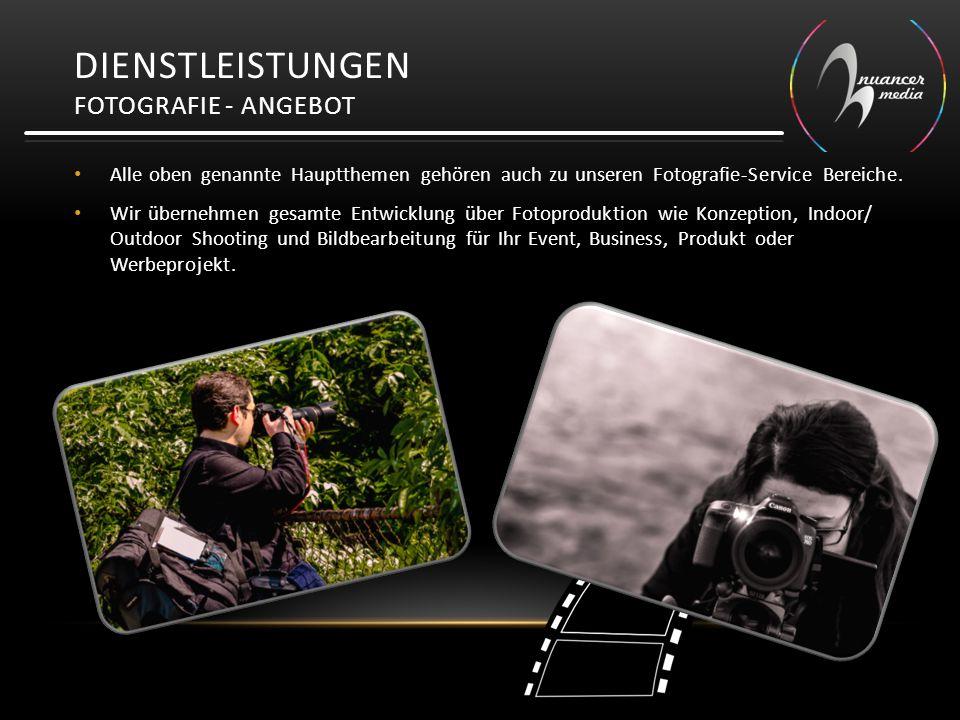 Dienstleistungen Fotografie - Angebot