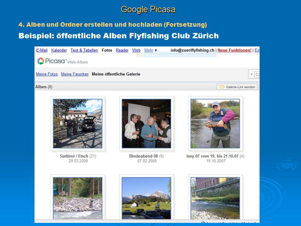 Google Picasa Beispiel: öffentliche Alben Flyfishing Club Zürich