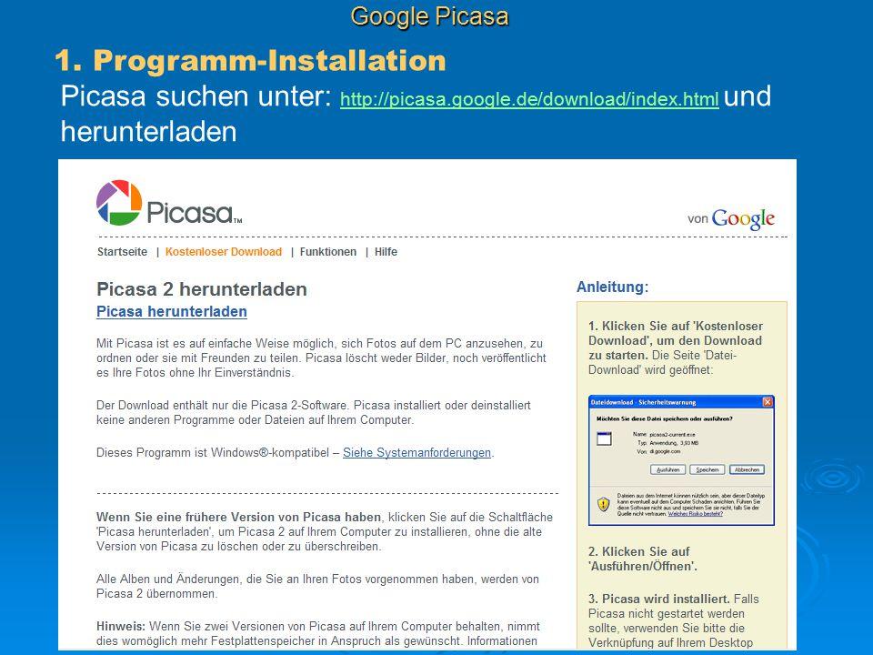 1. Programm-Installation