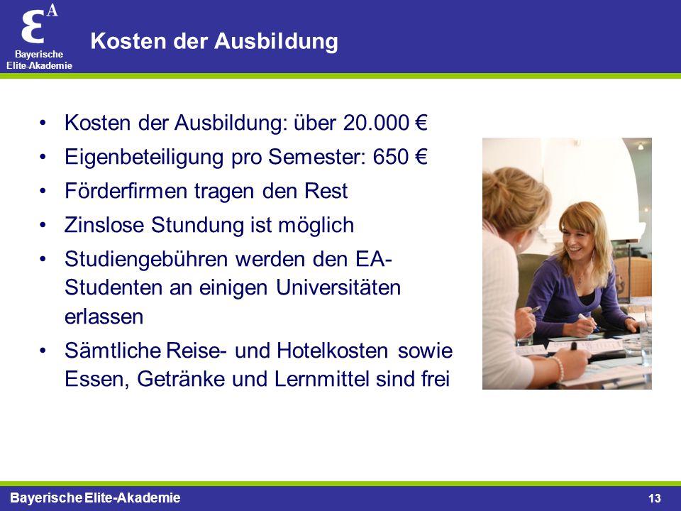 Kosten der Ausbildung Kosten der Ausbildung: über 20.000 €