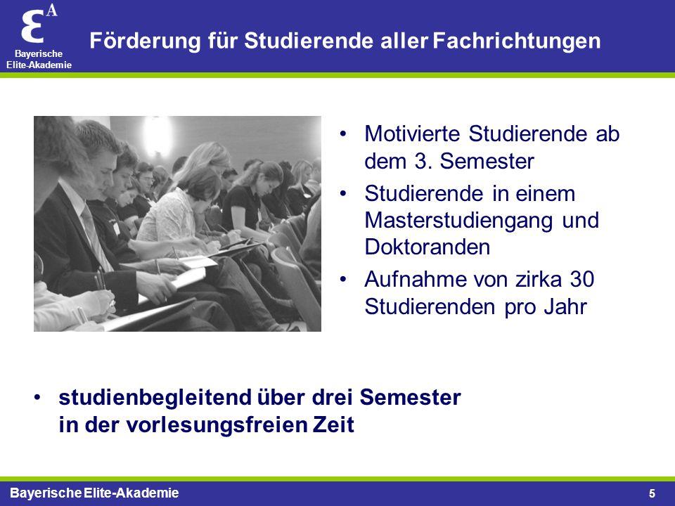 Förderung für Studierende aller Fachrichtungen
