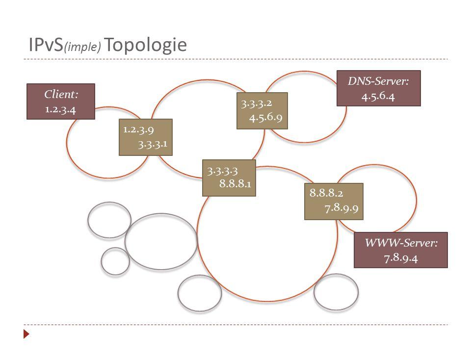 IPvS(imple) Topologie