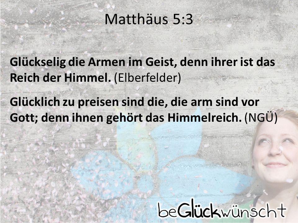 Matthäus 5:3