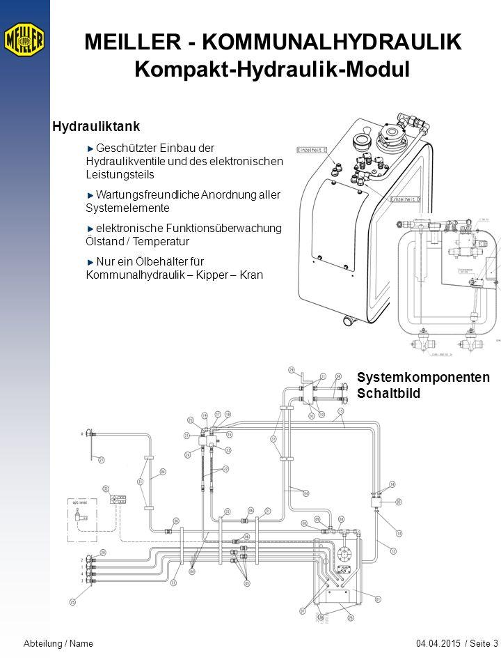 MEILLER - KOMMUNALHYDRAULIK Kompakt-Hydraulik-Modul