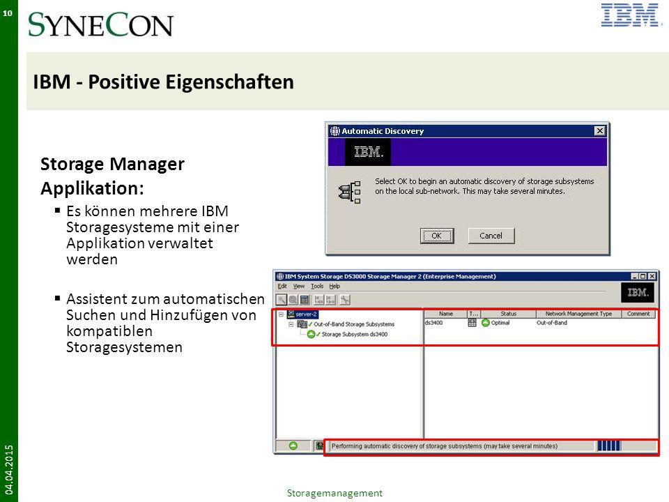 IBM - Positive Eigenschaften
