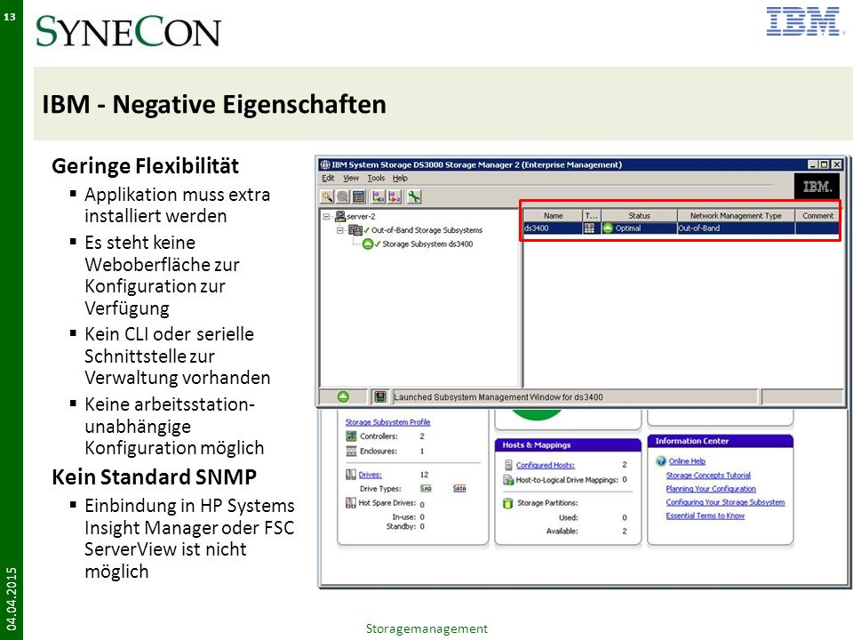 IBM - Negative Eigenschaften
