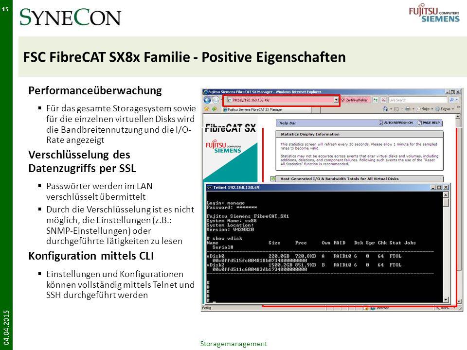 FSC FibreCAT SX8x Familie - Positive Eigenschaften
