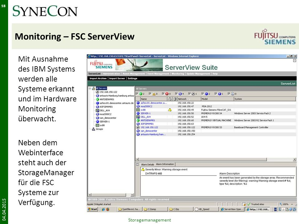 Monitoring – FSC ServerView