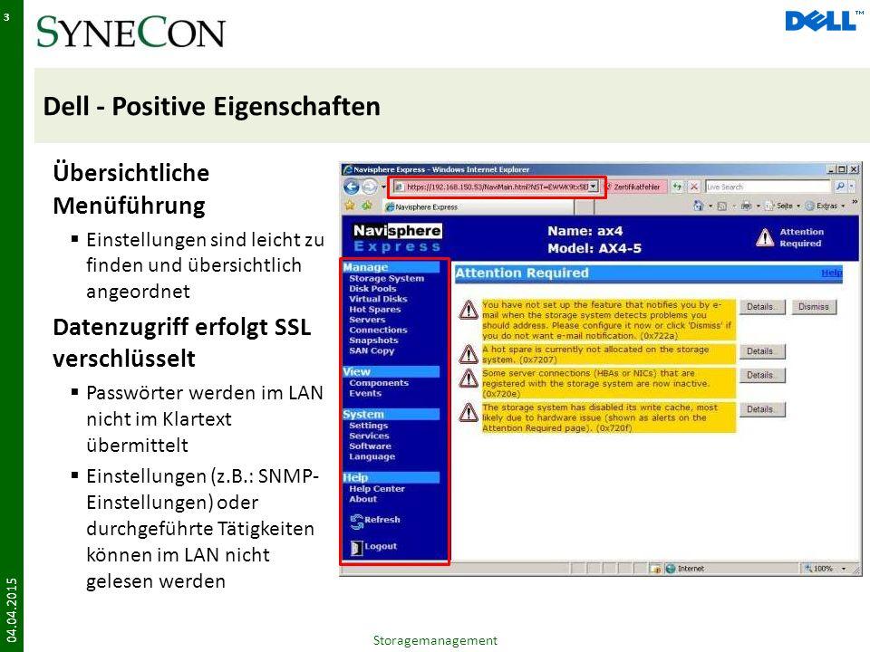 Dell - Positive Eigenschaften