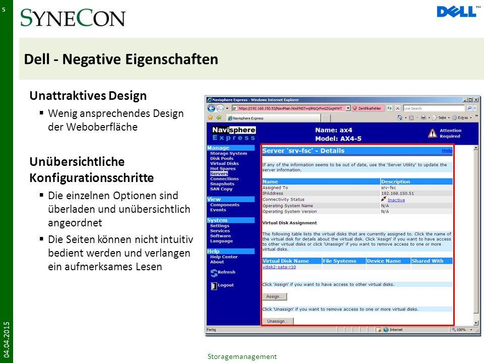 Dell - Negative Eigenschaften