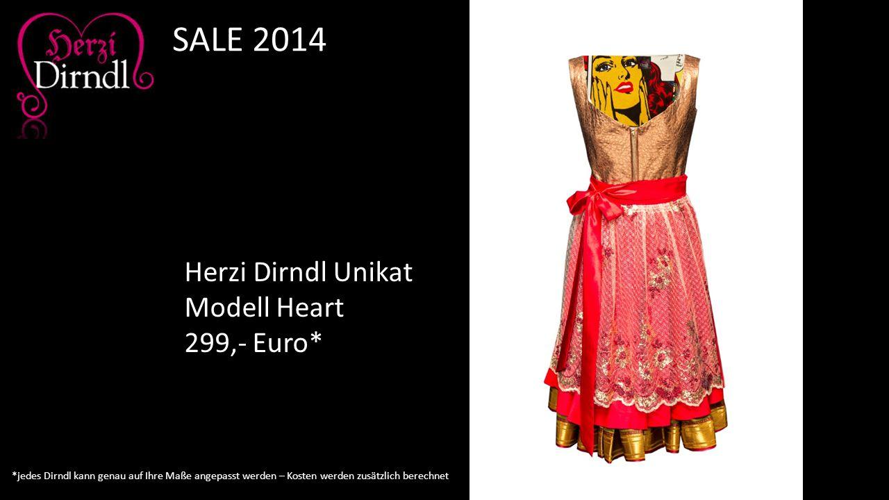SALE 2014 Herzi Dirndl Unikat Modell Heart 299,- Euro*