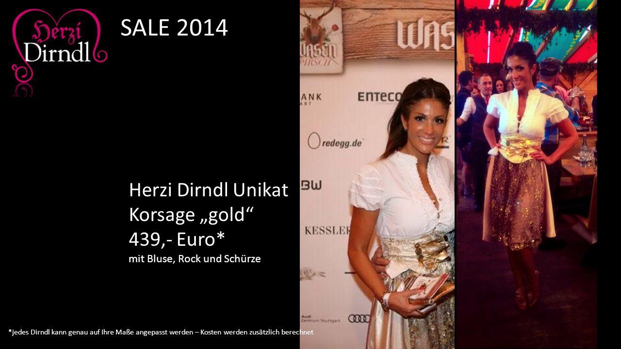 """SALE 2014 Herzi Dirndl Unikat Korsage """"gold 439,- Euro*"""