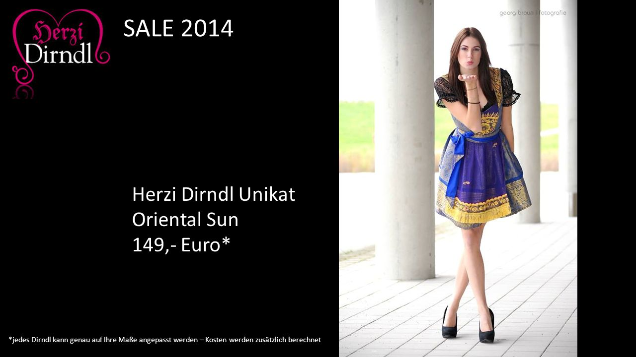 SALE 2014 Herzi Dirndl Unikat Oriental Sun 149,- Euro*