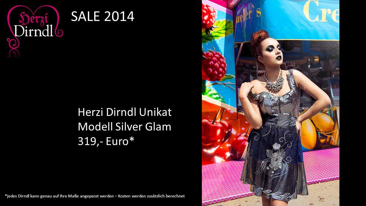 SALE 2014 Herzi Dirndl Unikat Modell Silver Glam 319,- Euro*
