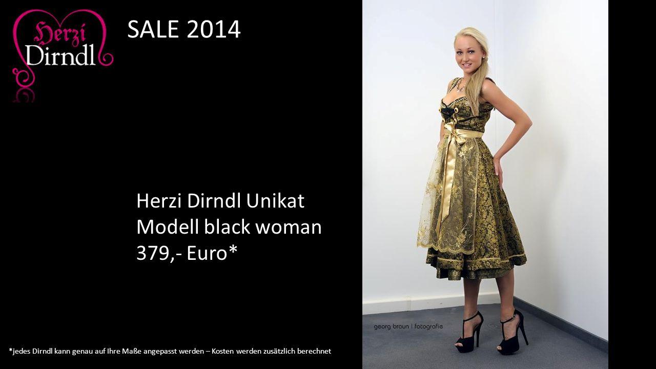 SALE 2014 Herzi Dirndl Unikat Modell black woman 379,- Euro*