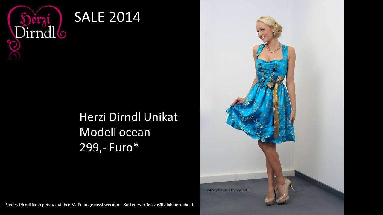 SALE 2014 Herzi Dirndl Unikat Modell ocean 299,- Euro*