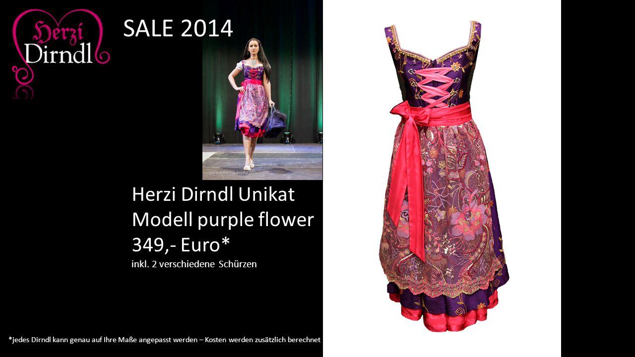 SALE 2014 Herzi Dirndl Unikat Modell purple flower 349,- Euro*