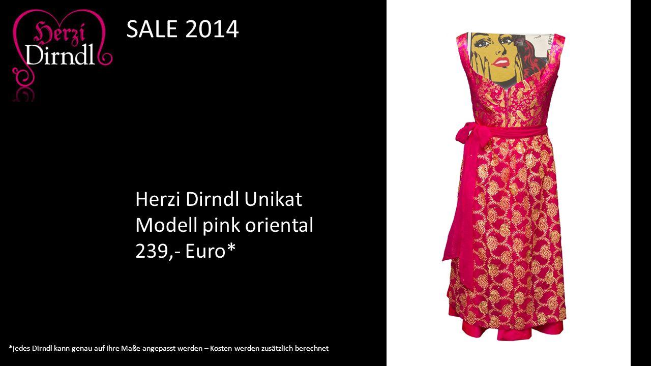 SALE 2014 Herzi Dirndl Unikat Modell pink oriental 239,- Euro*