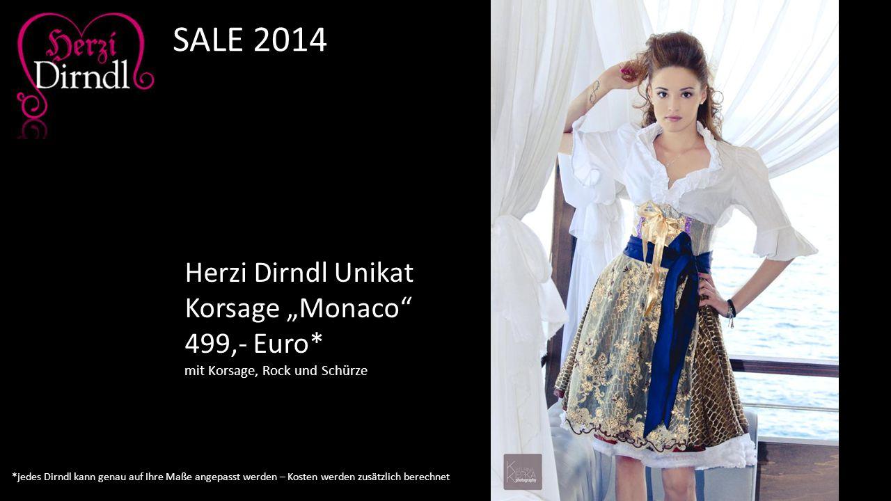 "SALE 2014 Herzi Dirndl Unikat Korsage ""Monaco 499,- Euro*"