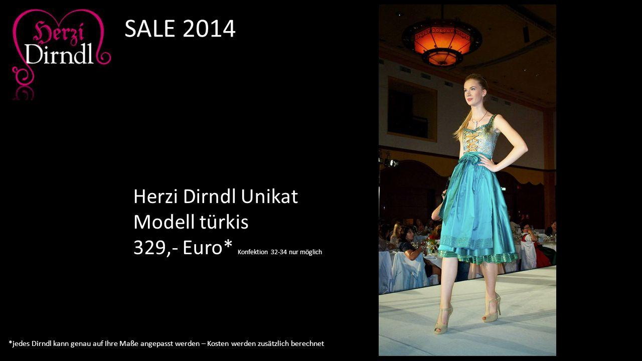 SALE 2014 Herzi Dirndl Unikat Modell türkis