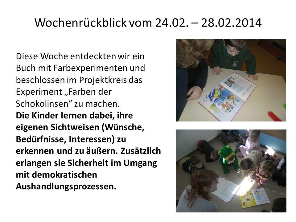 Wochenrückblick vom 24.02. – 28.02.2014