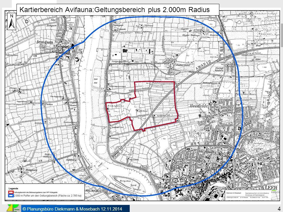 Vorarbeiten Kartierbereich Avifauna:Geltungsbereich plus 2.000m Radius