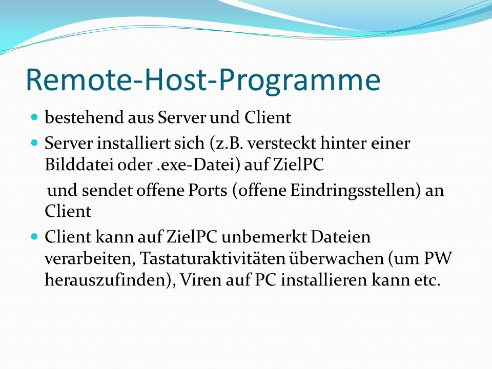 Remote-Host-Programme