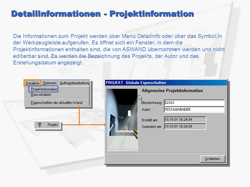 Detailinformationen - Projektinformation