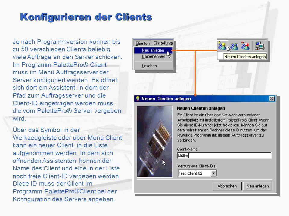 Konfigurieren der Clients