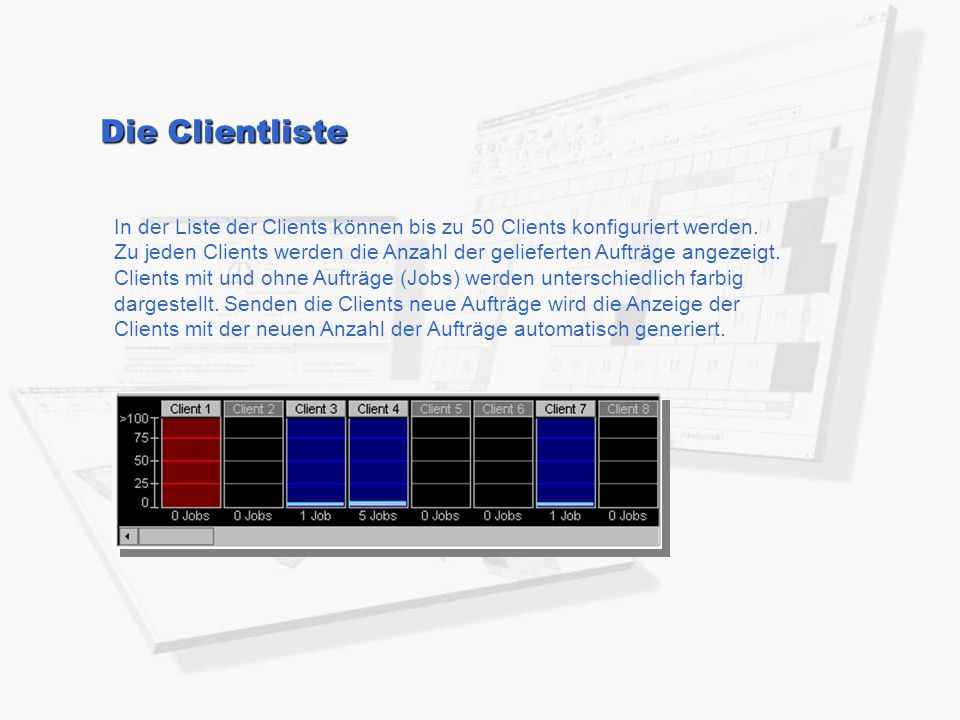Die Clientliste