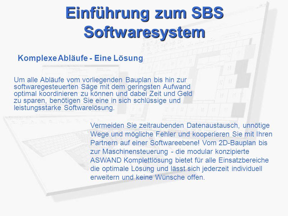 Einführung zum SBS Softwaresystem