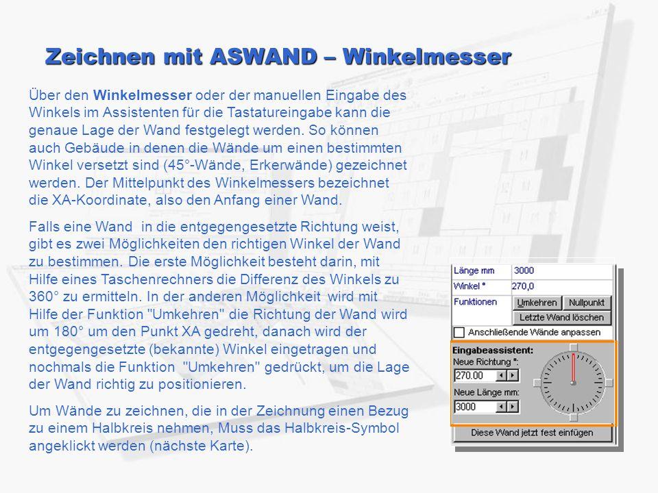 Zeichnen mit ASWAND – Winkelmesser