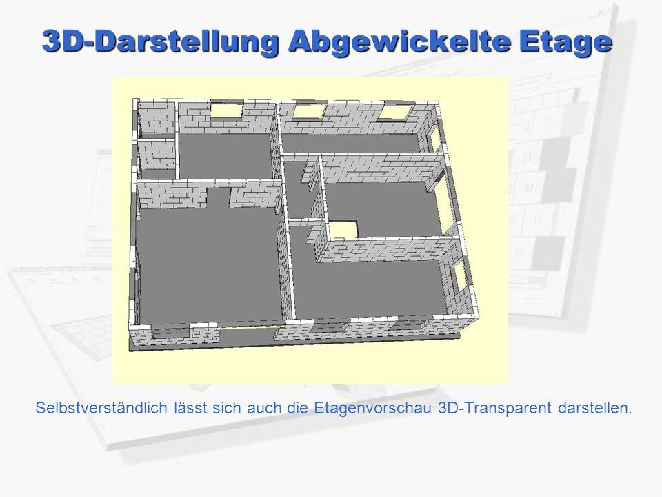 3D-Darstellung Abgewickelte Etage
