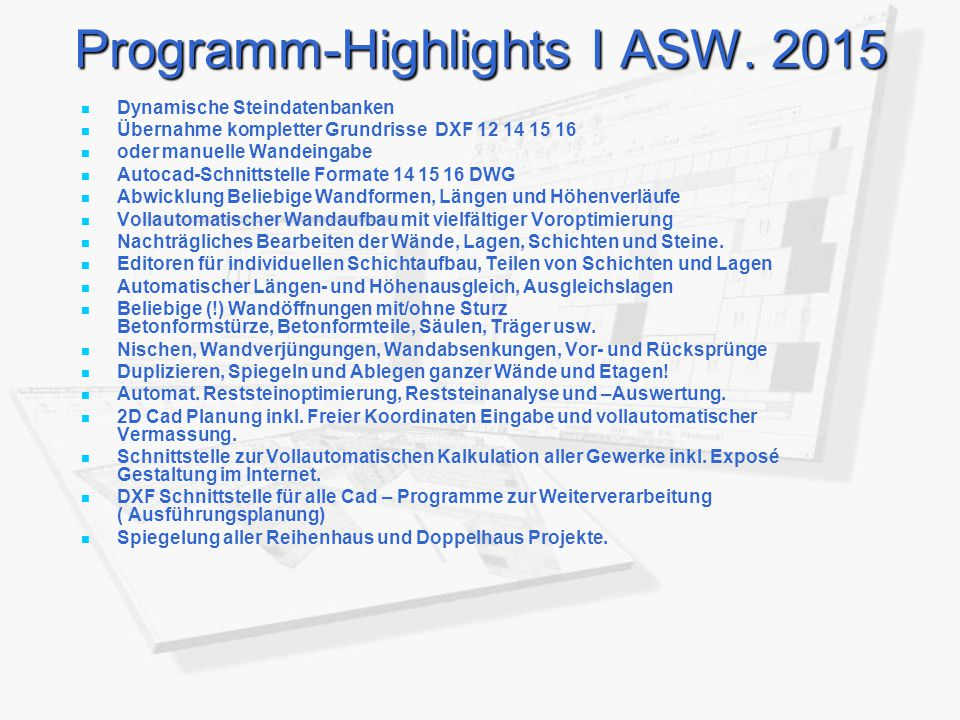 Programm-Highlights I ASW. 2015