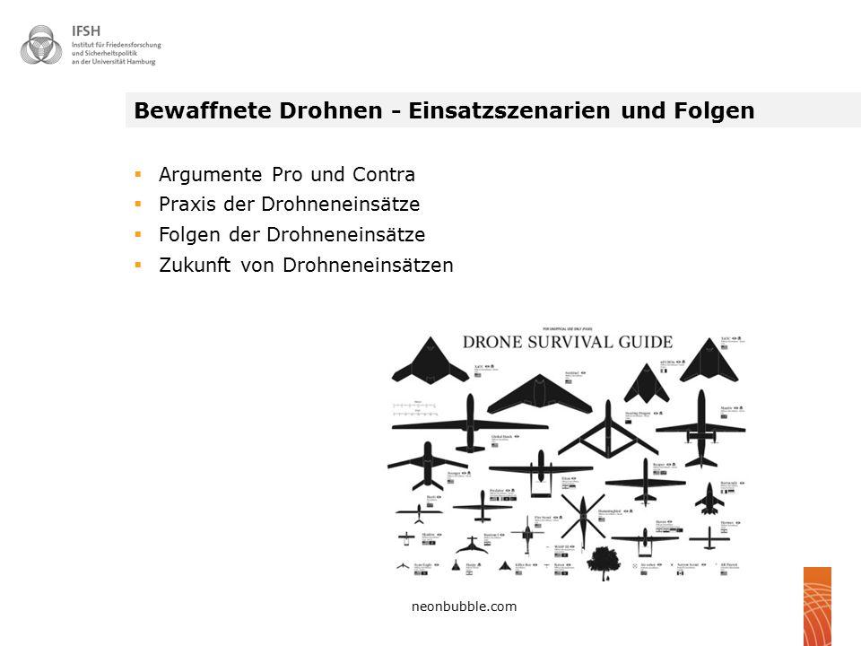 Bewaffnete Drohnen - Einsatzszenarien und Folgen
