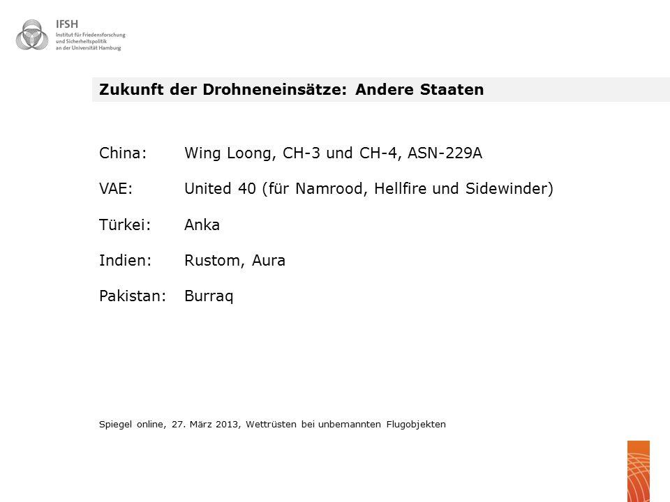 Zukunft der Drohneneinsätze: Andere Staaten