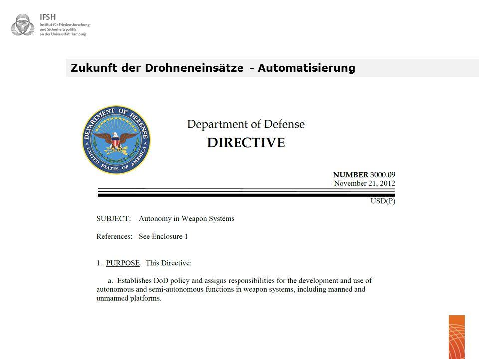 Zukunft der Drohneneinsätze - Automatisierung