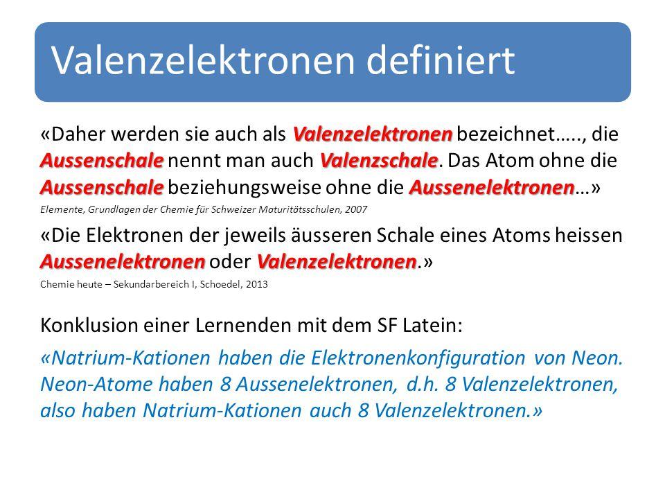 Valenzelektronen definiert