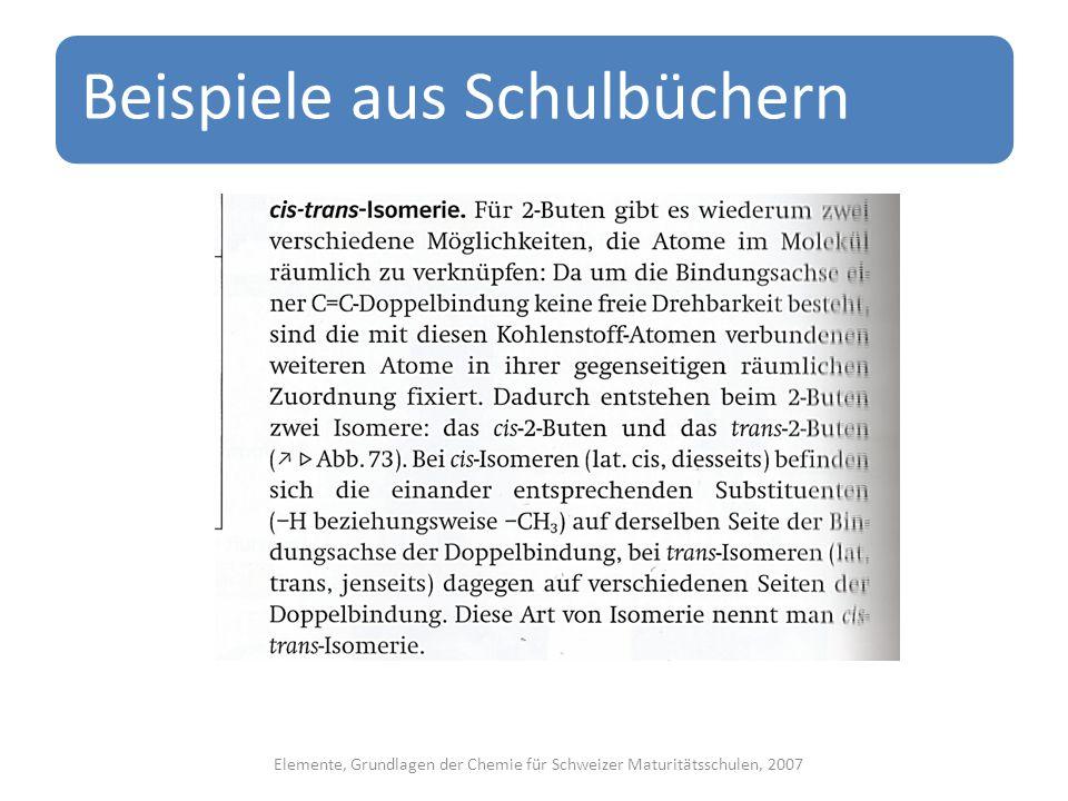 Elemente, Grundlagen der Chemie für Schweizer Maturitätsschulen, 2007