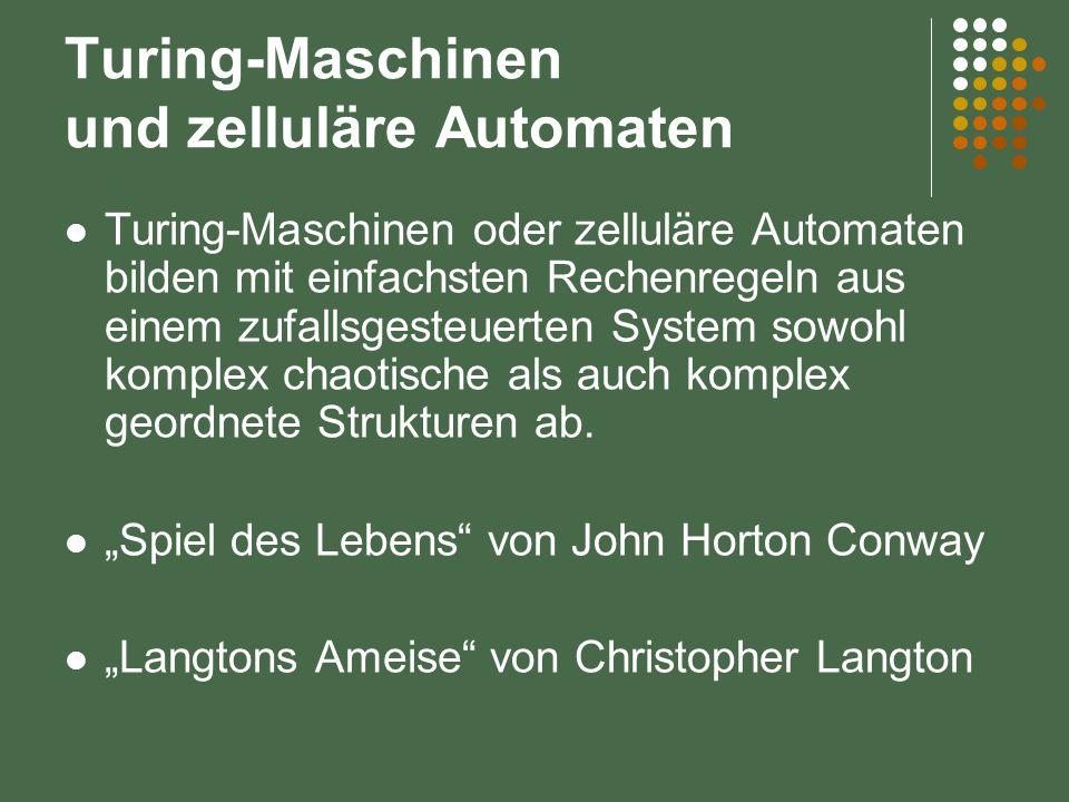 Turing-Maschinen und zelluläre Automaten