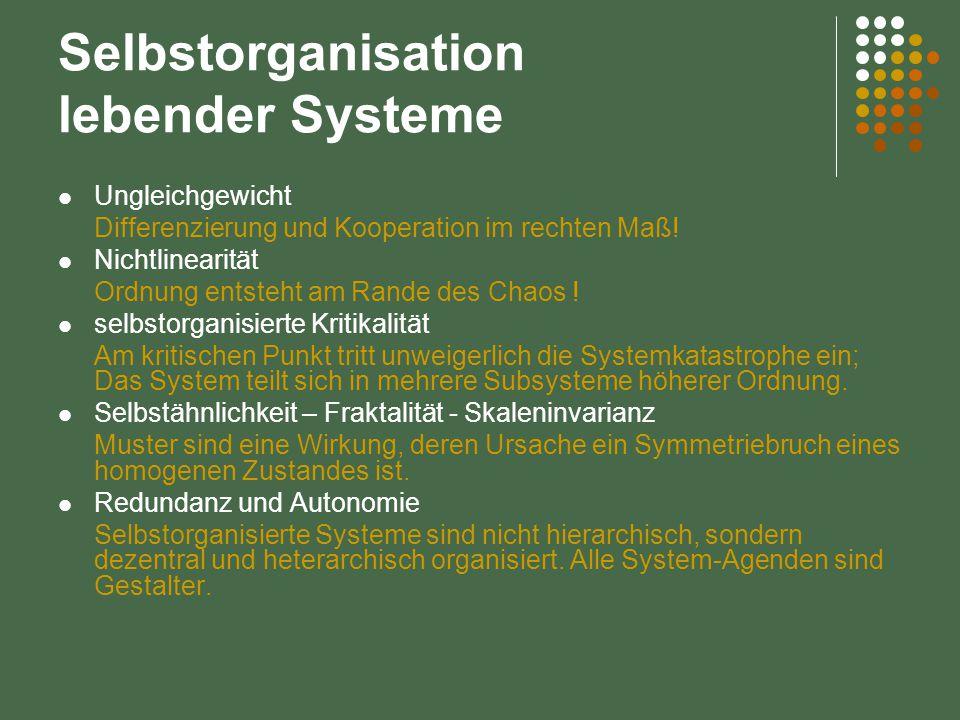 Selbstorganisation lebender Systeme