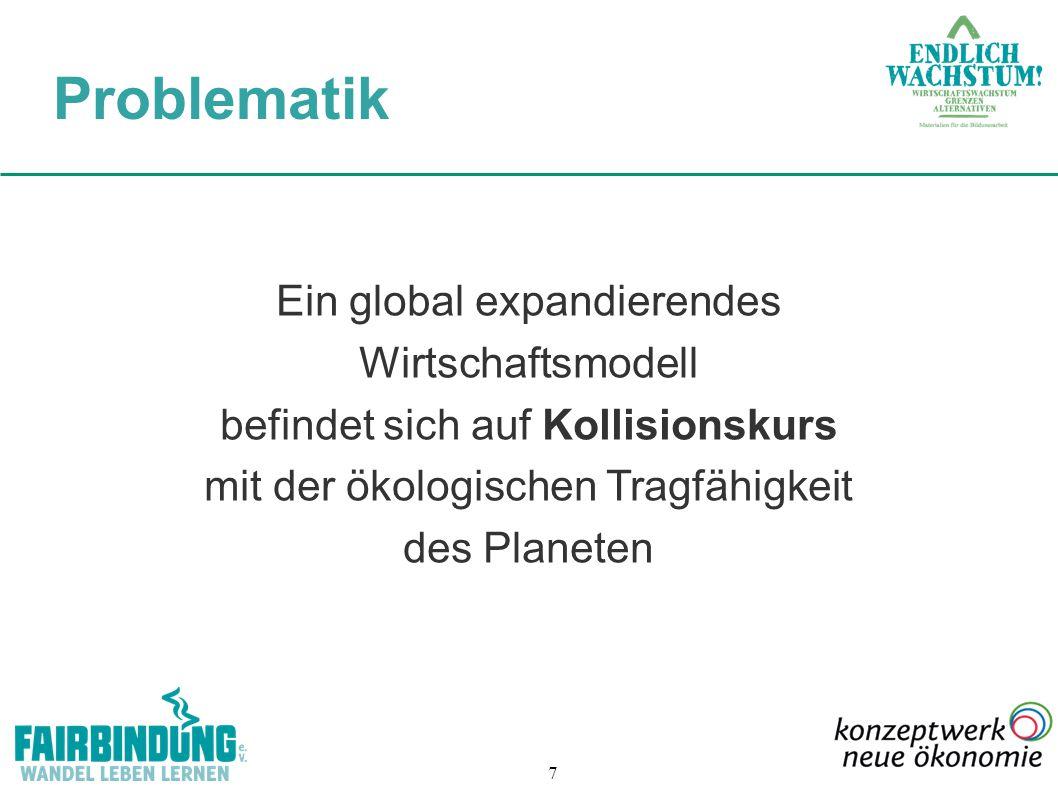 Problematik Ein global expandierendes Wirtschaftsmodell