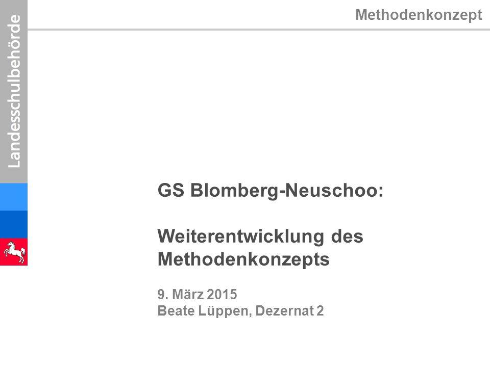 GS Blomberg-Neuschoo: Weiterentwicklung des Methodenkonzepts