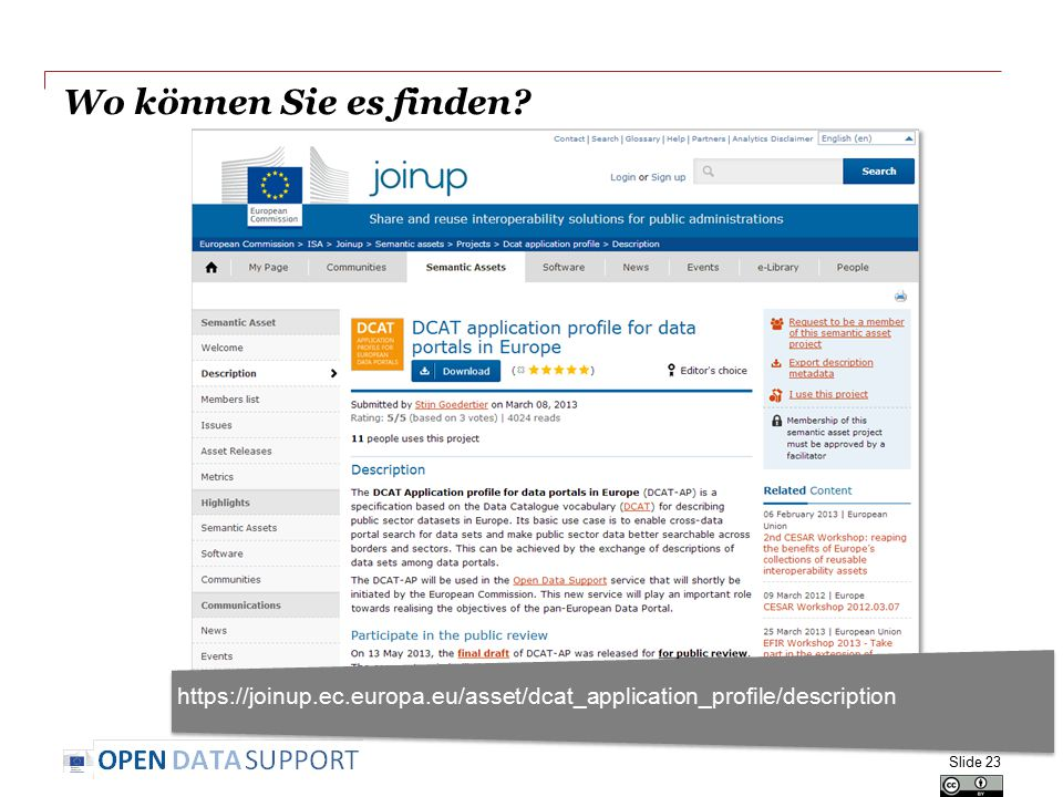 Wo können Sie es finden https://joinup.ec.europa.eu/asset/dcat_application_profile/description