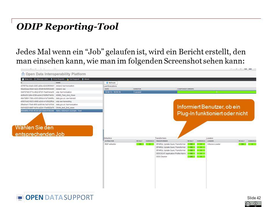 ODIP Reporting-Tool