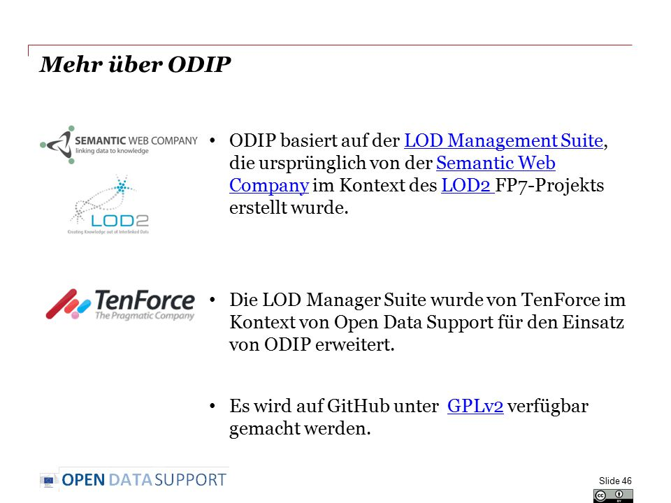 Mehr über ODIP